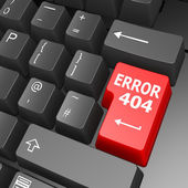 Error 404 key on computer keyboard — Stock Photo