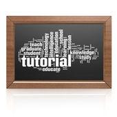 Blank blackboard tutorial — Stock Photo