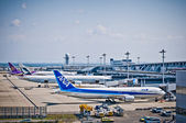 Kansai-International-Airport, Boeing 767-300 — Stock Photo