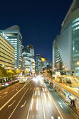 View of an Osaka street at night. Umeda area. — Stock Photo
