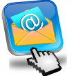 E-Mail Button with Cursor - Stockfoto
