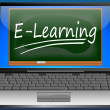 Stock Photo: Laptop with e-learning