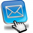 E-mail button with cursor — Stock Photo #12384585