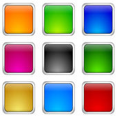 Internet web button set — Stockfoto