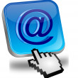 E-Mail Button with Cursor — Stock Photo #12671238