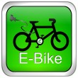 Royalty-Free Stock Photo: E-Bike Button