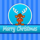 Желаю счастливого Рождества оленей — Стоковое фото