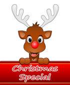 Reindeer presenting Christmas special — Стоковое фото