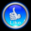 Stock Photo: Thumb up Button