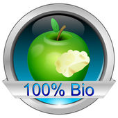 Button 100% Bio — Stockfoto