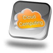Tlačítko cloud computingu — Stock fotografie