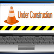 Laptop with Website under Construction — Stock Photo