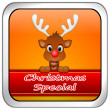 Button Christmas Special with reindeer — Stock Photo