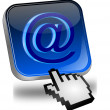 E-Mail Button with Cursor — Stock Photo