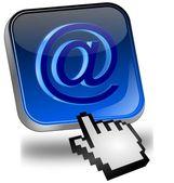 Botão de e-mail com cursor — Fotografia Stock