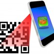 Royalty-Free Stock Photo: Smartphone scanning QR-Code