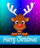 Sobí přeji veselé vánoce — Stock fotografie