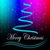 快乐圣诞抽象圣诞树 — 图库照片