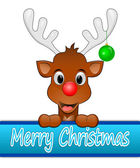 Ik wens prettige kerstdagen rendier — Stockfoto