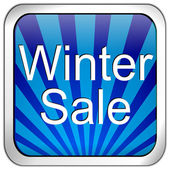 Button winter sale — Stock Photo