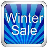Button winter sale — Stock Photo