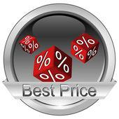 Mejor precio de botón — Foto de Stock