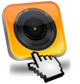 Photo camera Button with cursor — Stock Photo