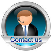 Button contact us — Foto Stock