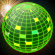 Green mirror ball — Stock Photo