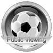 Button Public Viewing with Soccer ball - Stock Photo
