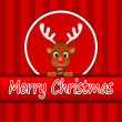 Reindeer wishing Merry Christmas — Stock Photo