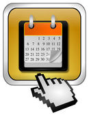 Calendar button with Cursor — Stock Photo