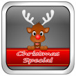 Stock Photo: Button Christmas Special with reindeer