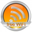 free wifi button — Stock Photo #17980063