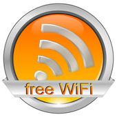 Free wifi button — Stock Photo