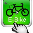 Royalty-Free Stock Photo: E-Bike Button with Cursor
