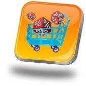 Shopping Button — Foto de Stock