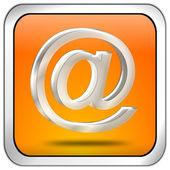 Botón e-mail — Foto de Stock