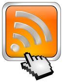 Botão de wlan sem fio wifi com cursor — Fotografia Stock