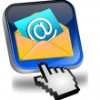 E-Mail Button with Cursor — Stock Photo #19090493