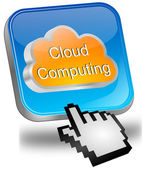 Button Cloud Computing with cursor — Foto Stock