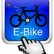E-Bike Button with Cursor — Stock Photo
