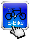 E-Bike Button with Cursor — Stock fotografie