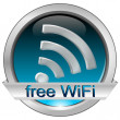 Royalty-Free Stock Photo: Free wifi button
