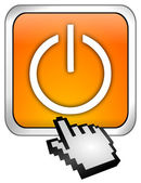 Power Button with cursor — Stock Photo