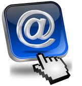 E-Mail Button with Cursor — Stock Photo