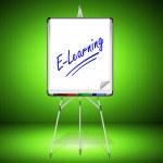 Flipchart E-Learning — Stock Photo #21477275