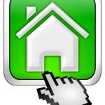 Home Button with cursor — Stock Photo