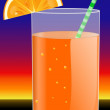 Royalty-Free Stock Photo: Glass with orange juice