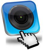 Photo camera Button with cursor — Stock Photo